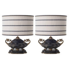 Pair of Double-Armed Table Lamps