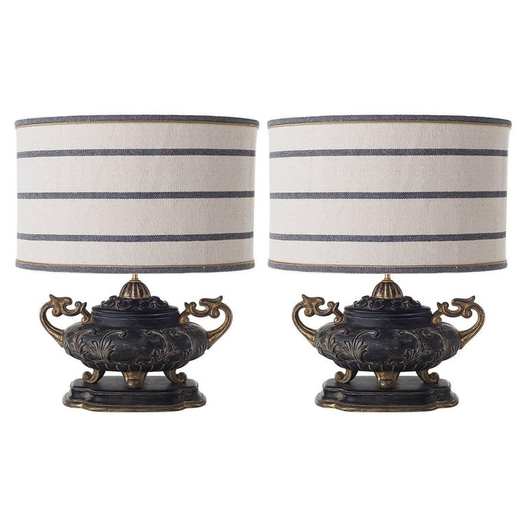 Pair of Double-Armed Table Lamps For Sale