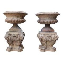 Pair of 'Doulton & Co' Terracotta Urns