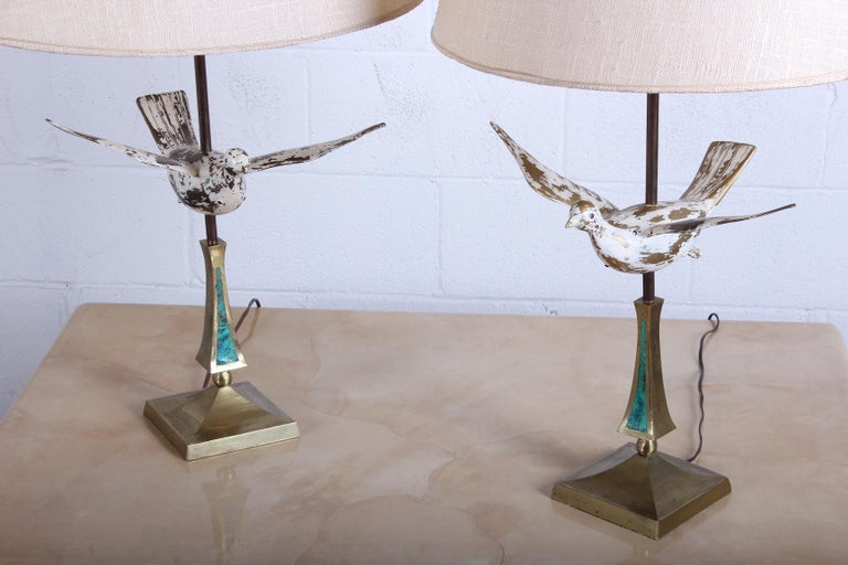Pair of Dove Lamps by Pepe Mendoza For Sale 7