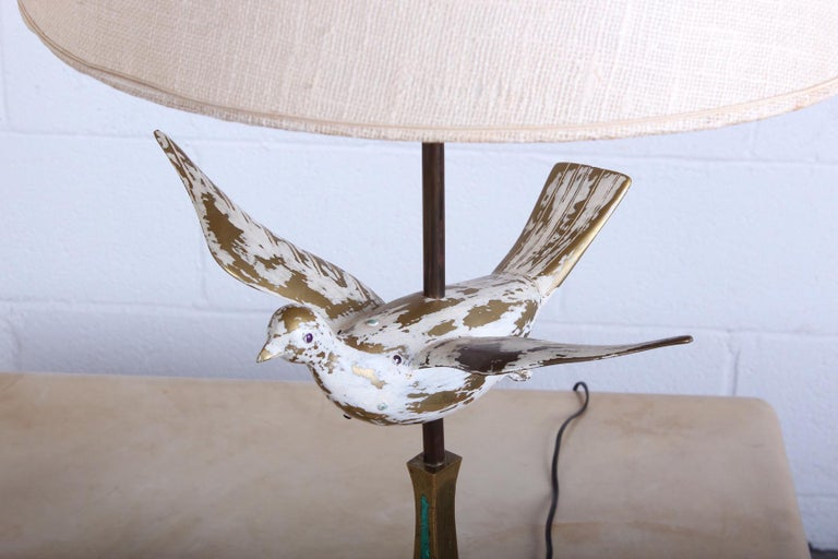 Pair of Dove Lamps by Pepe Mendoza For Sale 8