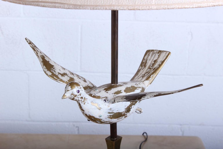 Pair of Dove Lamps by Pepe Mendoza For Sale 1