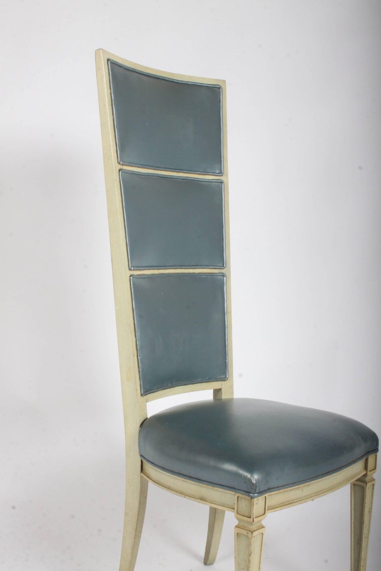 Mid-20th Century Pair of Dramatic High Back Hollywood Regency Occasional or Dining Chairs For Sale
