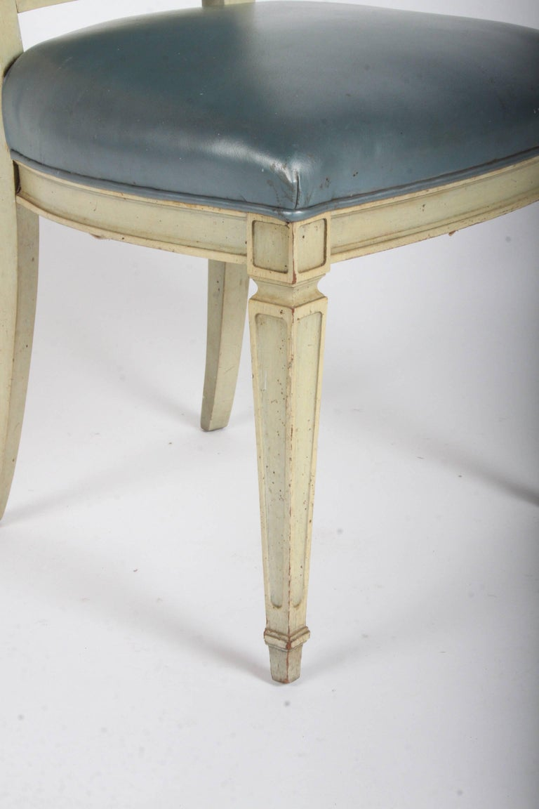 Pair of Dramatic High Back Hollywood Regency Occasional or Dining Chairs For Sale 1