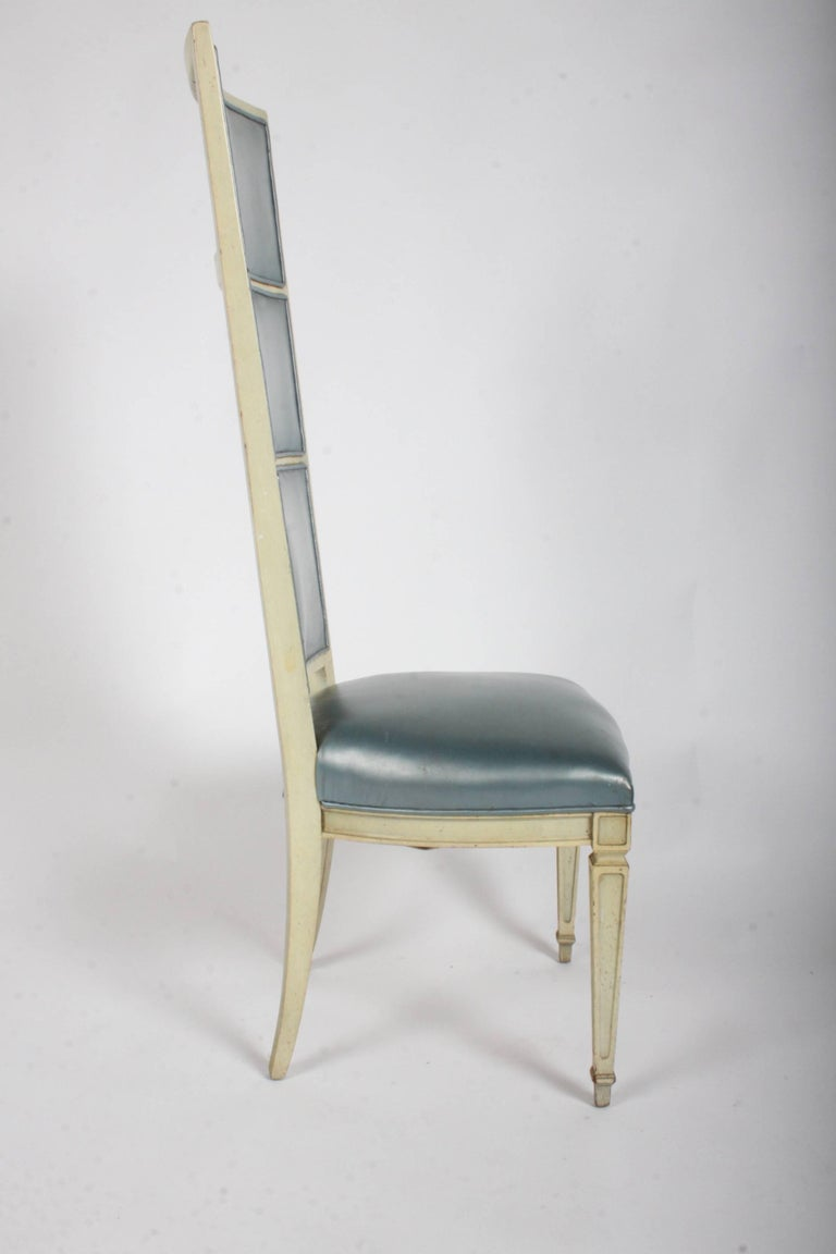 Pair of Dramatic High Back Hollywood Regency Occasional or Dining Chairs For Sale 2
