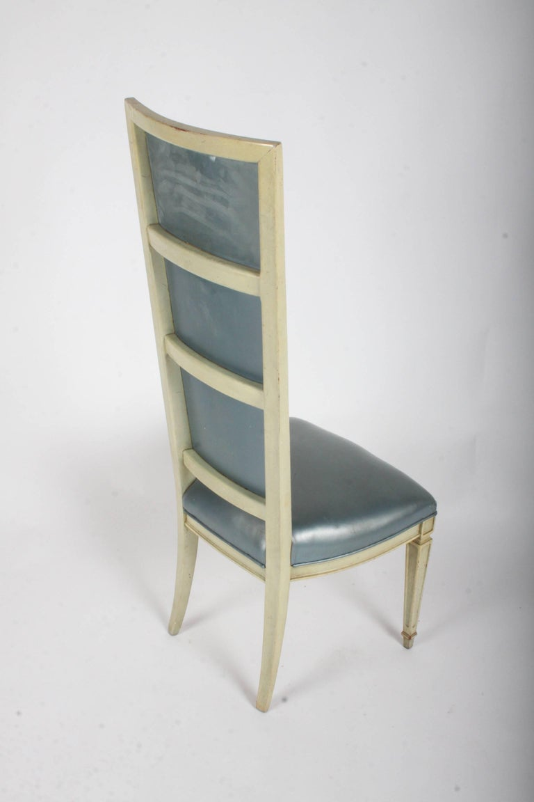 Pair of Dramatic High Back Hollywood Regency Occasional or Dining Chairs For Sale 3