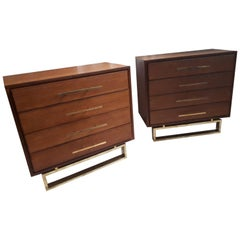 Pair of Dresser, Teak and Brass, 2017 Italy by Interno 43