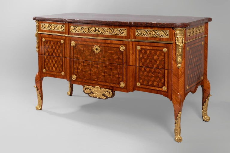 Pair of Dresser, Transition Period 18th Century by Jacques Dautriche For Sale 6
