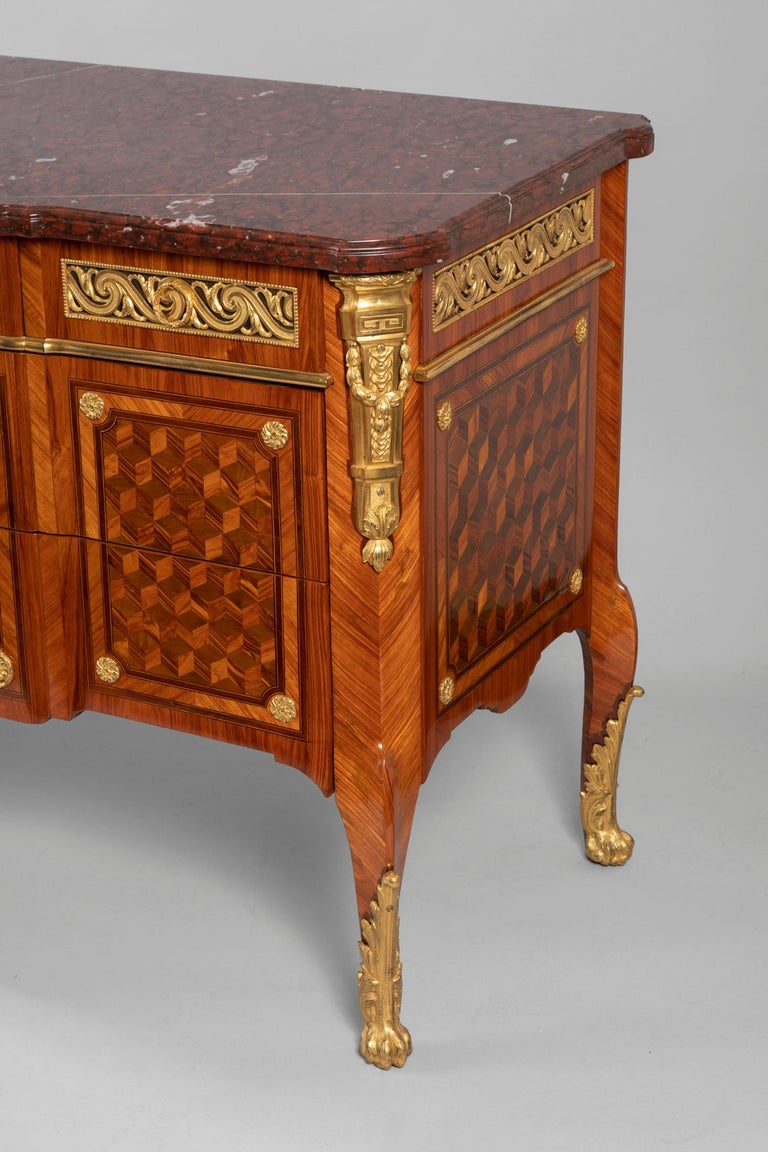 Pair of Dresser, Transition Period 18th Century by Jacques Dautriche For Sale 7