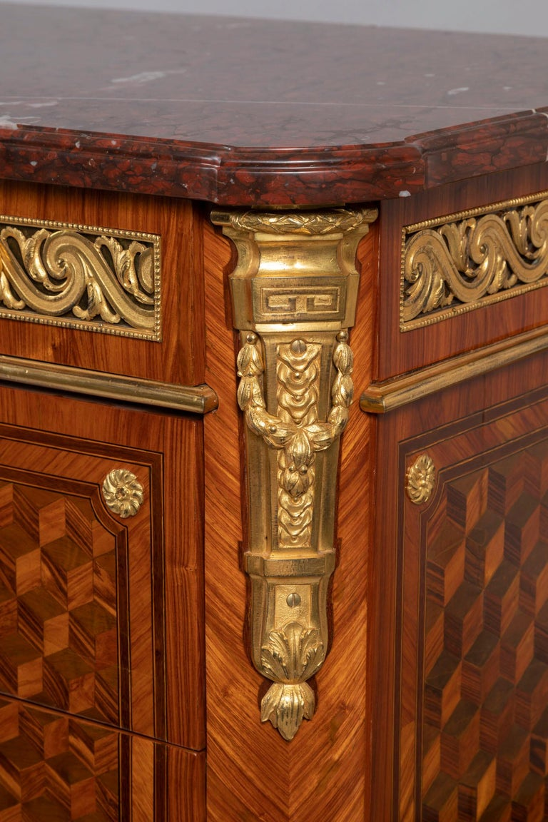 Pair of Dresser, Transition Period 18th Century by Jacques Dautriche For Sale 8