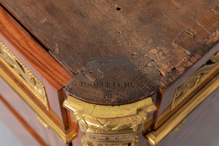 Pair of Dresser, Transition Period 18th Century by Jacques Dautriche For Sale 10