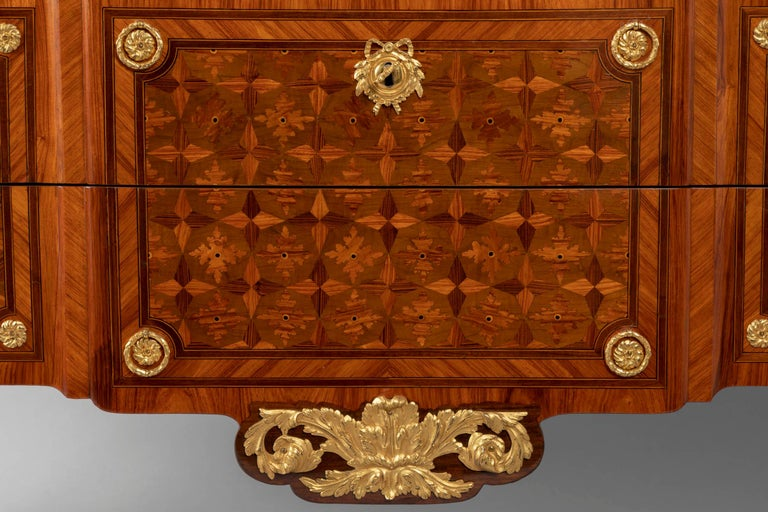 Gilt Pair of Dresser, Transition Period 18th Century by Jacques Dautriche For Sale