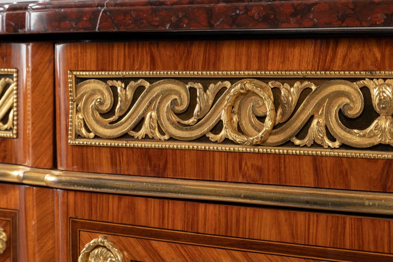 Pair of Dresser, Transition Period 18th Century by Jacques Dautriche For Sale 1