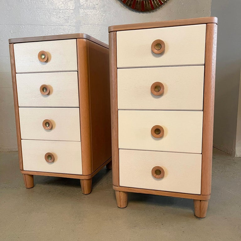 Oak Pair of Dressers by Raymond Loewy for Mengel For Sale