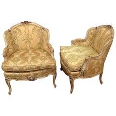 Pair of Drexel Heritage Louis XVI Style Bergeres