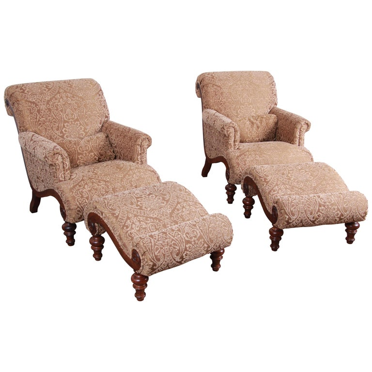 Upholstered Lounge Chairs And Ottomans