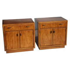 Pair of Drexel Heritage Consensus Pecan Nightstands