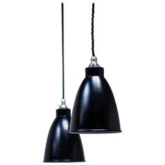 Pair of Drop Pendant Lights by Dutch Company Philips, 1960s
