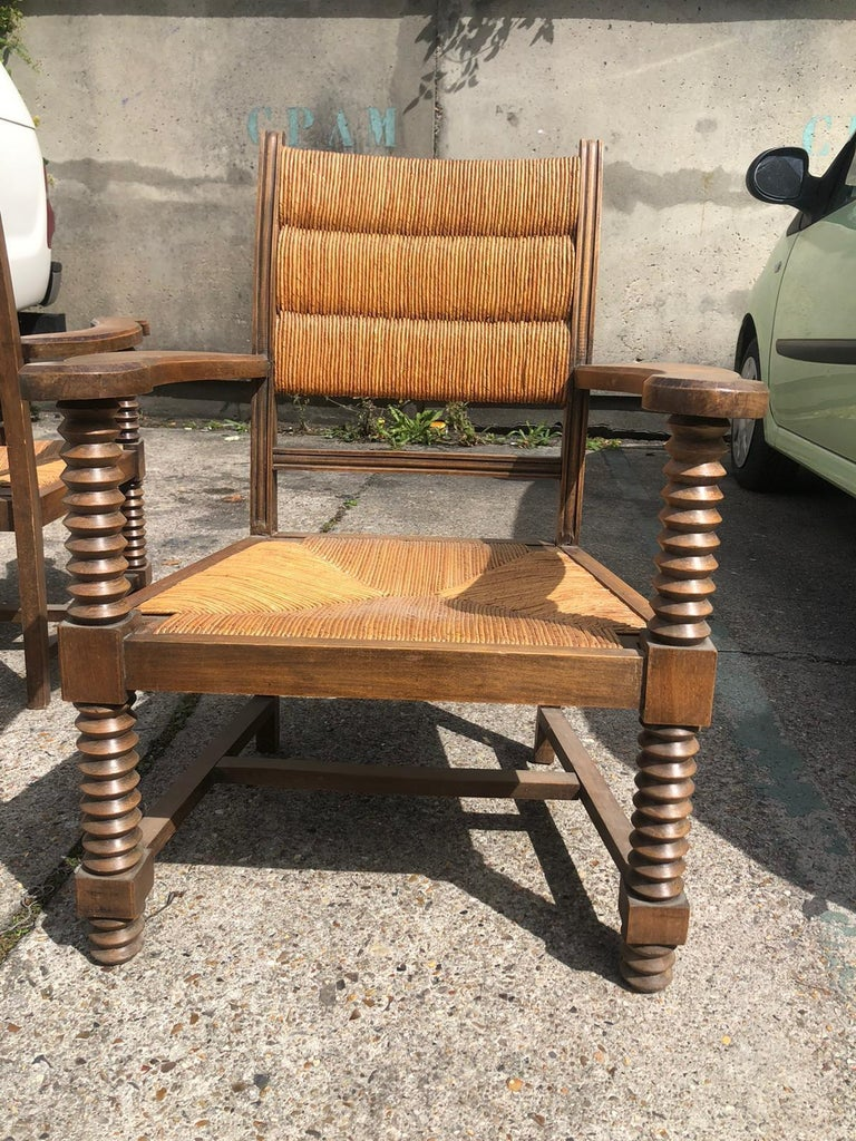 Pair of Dudouyt Armchairs In Good Condition For Sale In Saint-Ouen, FR