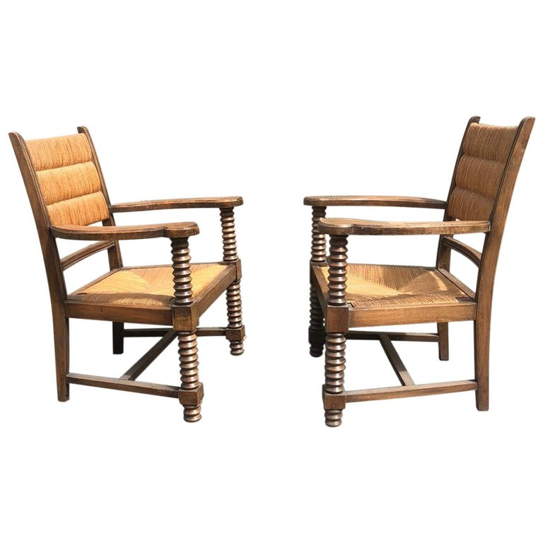 Pair of Dudouyt Armchairs For Sale