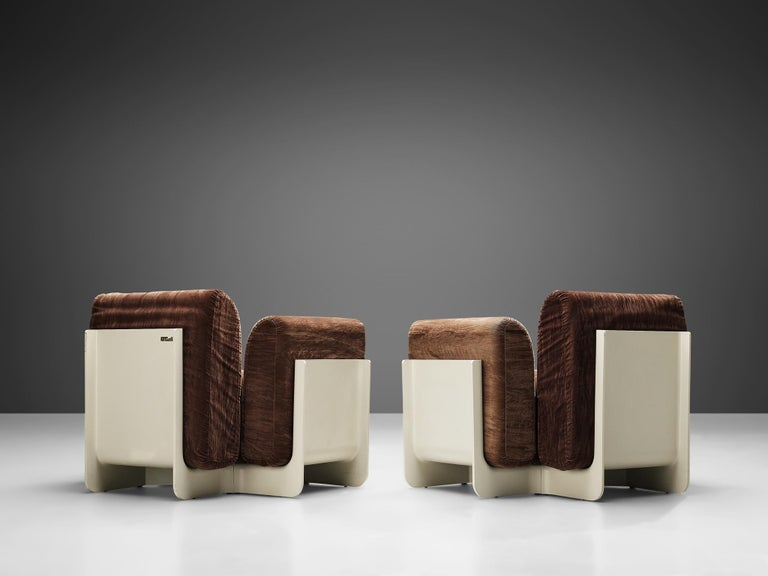 Mid-20th Century Pair of Duna Armchairs by Guarnacci, Padovano and Vagnoni for Uno Pi For Sale