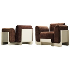 Pair of Duna Armchairs by Guarnacci, Padovano and Vagnoni for Uno Pi