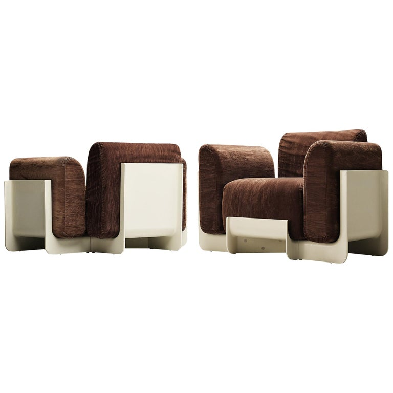 Pair of Duna Armchairs by Guarnacci, Padovano and Vagnoni for Uno Pi For Sale