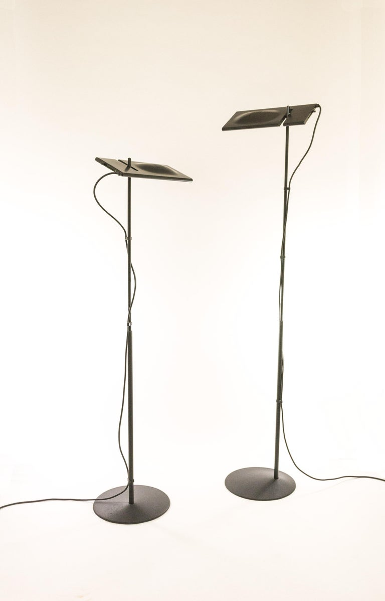 Lacquered Pair of Duna Floor Lamps by Mario Barbaglia & Marco Colombo for PAF Studio, 1980 For Sale