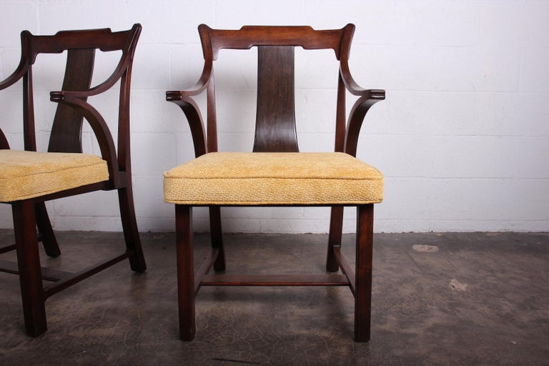 Pair of Dunbar Armchairs by Edward Wormley For Sale 5