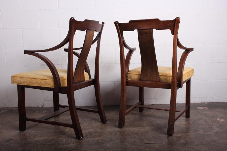 Pair of Dunbar Armchairs by Edward Wormley For Sale 8