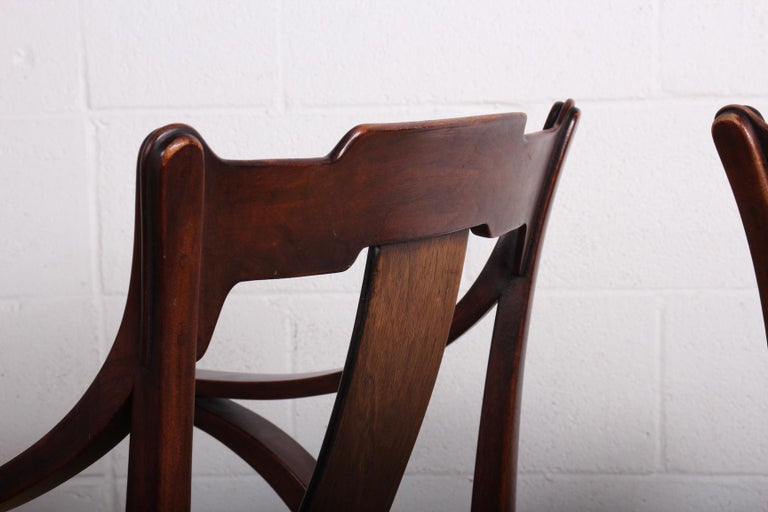 Pair of Dunbar Armchairs by Edward Wormley For Sale 9
