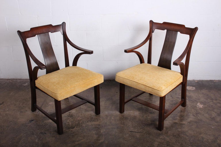 Pair of Dunbar Armchairs by Edward Wormley For Sale 11