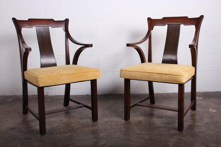 Pair of Dunbar Armchairs by Edward Wormley For Sale 12