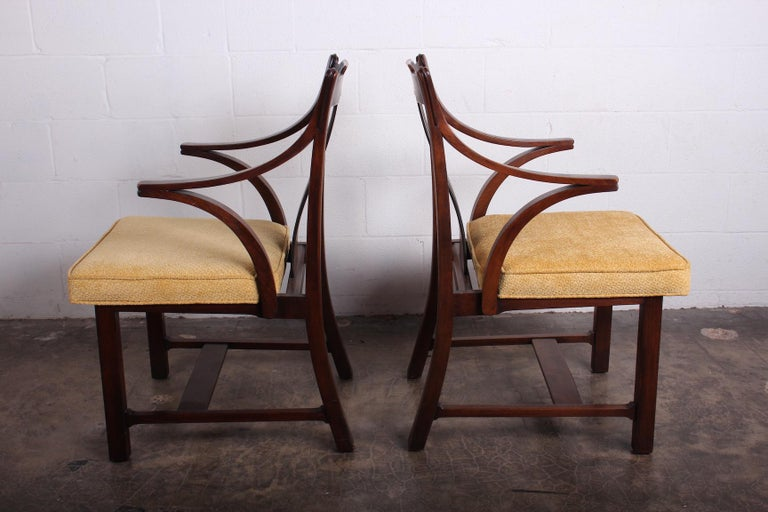 Pair of Dunbar Armchairs by Edward Wormley In Good Condition For Sale In Dallas, TX