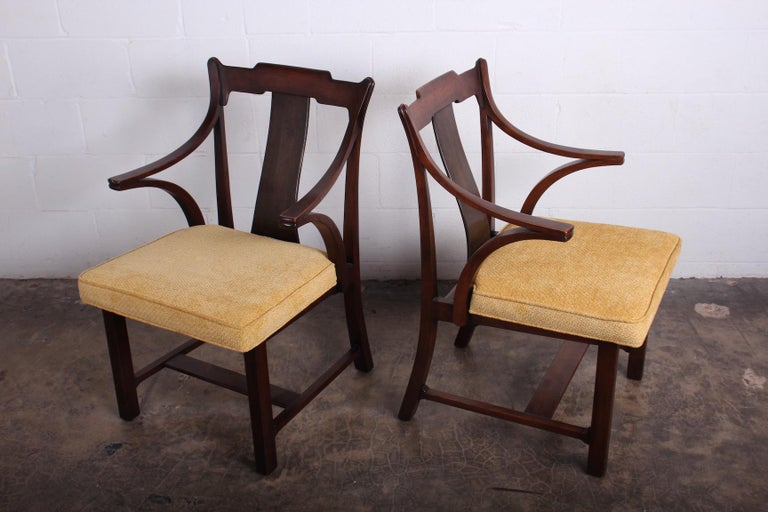 Mid-20th Century Pair of Dunbar Armchairs by Edward Wormley For Sale
