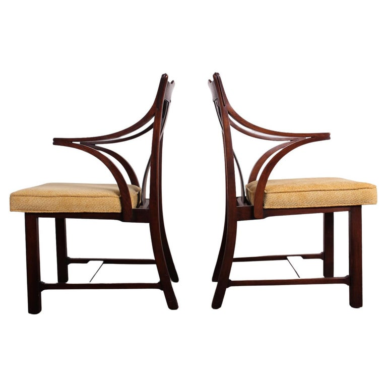 Pair of Dunbar Armchairs by Edward Wormley For Sale