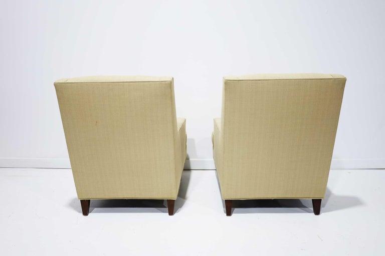 Upholstery Pair of Dunbar High Back