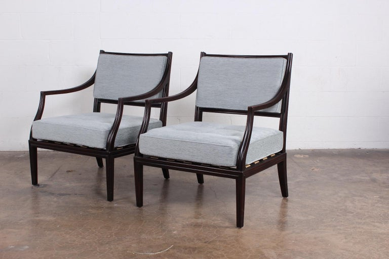 Pair of Dunbar Lounge Chairs For Sale 6