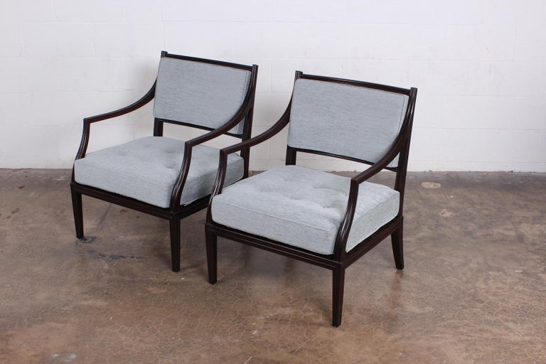 Pair of Dunbar Lounge Chairs For Sale 7