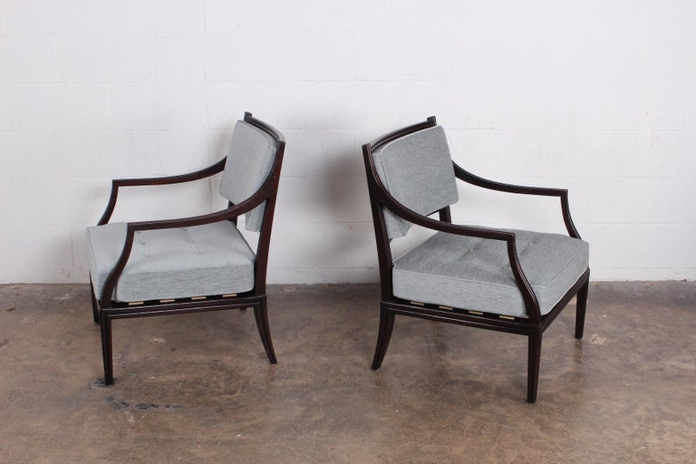 A pair of Dunbar lounge chairs designed by Edward Wormley.