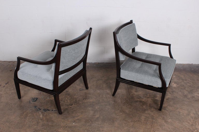 Pair of Dunbar Lounge Chairs For Sale 3