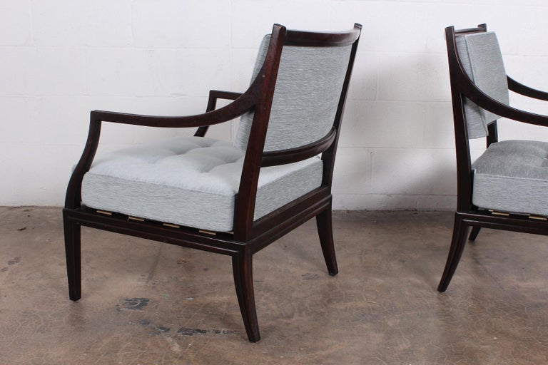 Pair of Dunbar Lounge Chairs For Sale 4