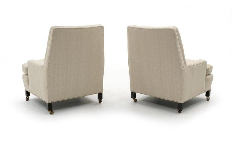Mid-Century Modern Pair of Dunbar Lounge Chairs Model 5484 Designed by Edward Wormley, Medium Scale
