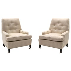 Pair of Dunbar Lounge Chairs Model 5484 Designed by Edward Wormley, Medium Scale