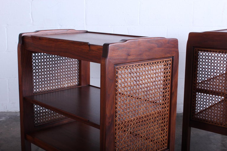 Walnut Pair of Dunbar Nightstands by Edward Wormley For Sale
