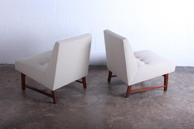 Pair of Dunbar Slipper Chairs by Edward Wormley For Sale 5