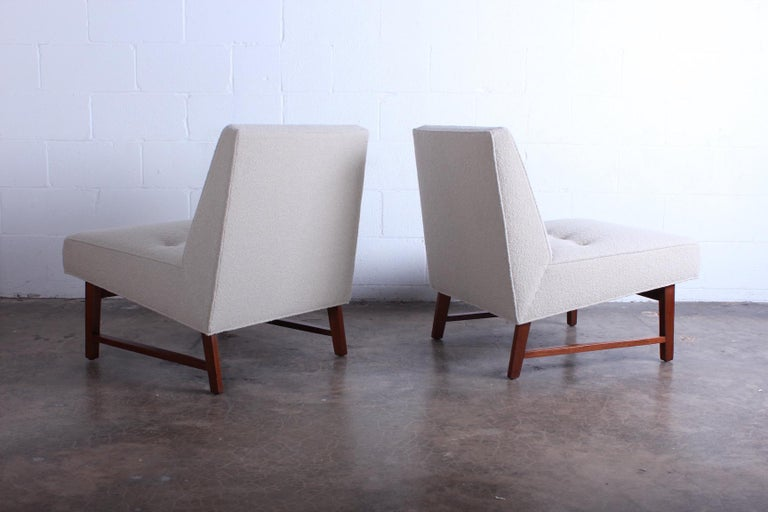 Pair of Dunbar Slipper Chairs by Edward Wormley For Sale 6