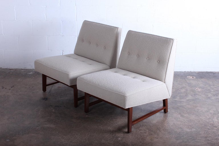 Pair of Dunbar Slipper Chairs by Edward Wormley For Sale 1