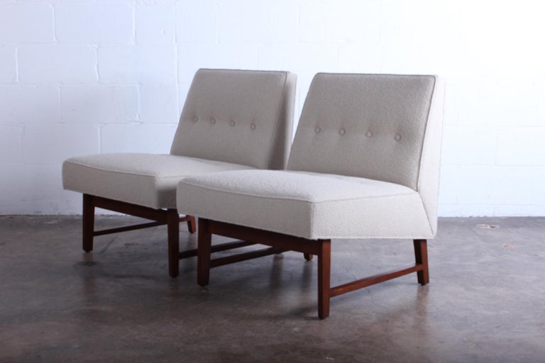 Pair of Dunbar Slipper Chairs by Edward Wormley For Sale 2