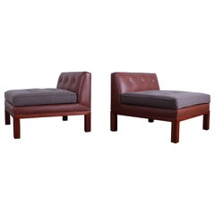Pair of Dunbar Slipper Chairs by Edward Wormley